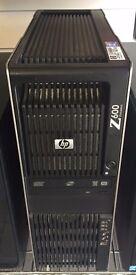 HP Z600 WORKSTATION, XEON, 11GB MEMORY, 500GB HARD DRIVE, WINDOWS 7 INSTALLED