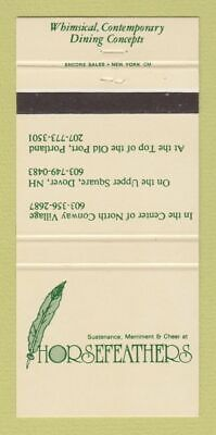 Matchbook Cover - Horsefeathers Portland ME North Conway Dover NH 30 (Conway Portland)