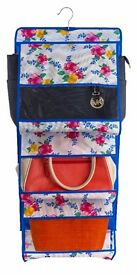 "Home Storage Boxes and Garment Bags ""Blue Floral"""