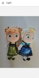 Disney store Elsa & Anna kid dolls