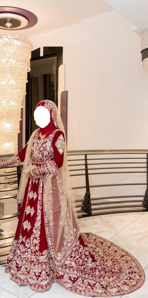 df66ce94e Asian Pakistani Red Bridal Lengha/Wedding dress | in Slough ...