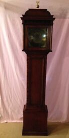 Antique Grandfather Clock - Long Case Georgian / Victorian 8 Day Clock - See Delivery