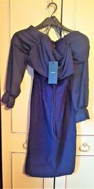 ASOS VESPER Blue Bodycon Dress, Size 14