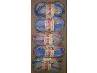 500g James C Brett Harmony Chunky Knitting Yarn - Blue