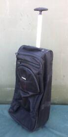 Azure black suitcase bag on wheels