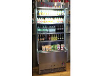 fridge Interlevin stainless steel and grey multideck, suitable for drinks, sandwiches