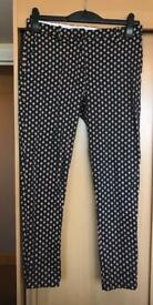 Dark green printed trousers size 14