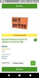 Brand new pets at home double hutch and practically new indoor double cage