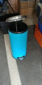 Tall kitchen pedal bin in Turquoise.