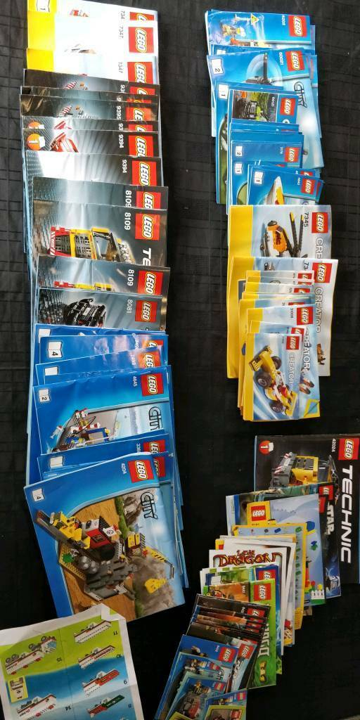 Massive 30kg Job Lot Of Lego Including Instruction Books And 200