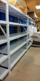 White Industrial Commercial Warehouse Shelving Racking 2m tall x 2m x 60cm in Very Good Condition