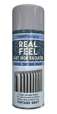Paint Factory Real Feel Cast Iron Vintage Grey Radiator Spray Paint 400ml
