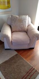 Beige armchair with extra cushion