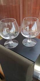 2 large Brandy glasses