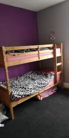 Pines bunk beds and 2 mattresses
