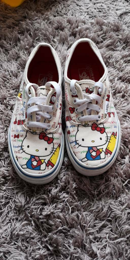 01ebe7a5882630 Hello kitty vans in excellent condition in size 1