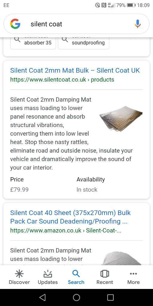 Silent coat sound deadening mats | in Hull, East Yorkshire | Gumtree
