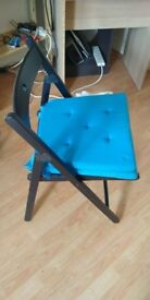 ikea foldable wodden chair with cushion