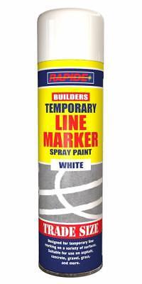 1 x White Line Marker Spray Temporary Construction Paint 750ml Aerosol Can