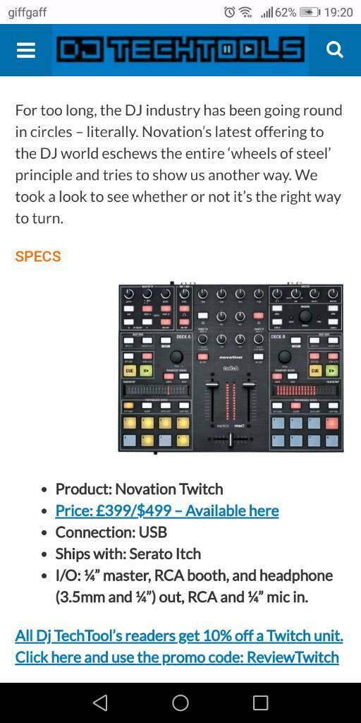 Novation Twitch Dj controller | in Hull, East Yorkshire | Gumtree