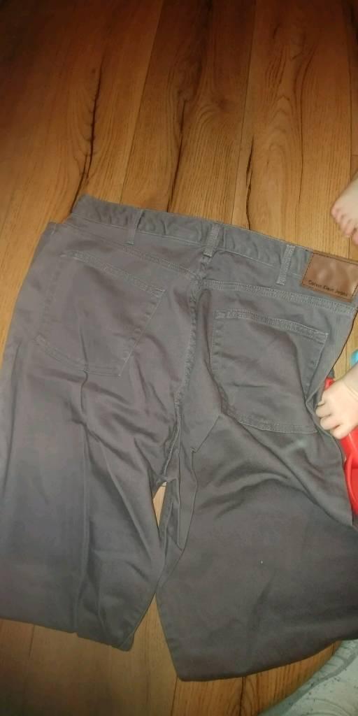 Designer calvin klein jeans in dark grey