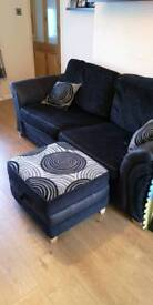 3 seater sofa bed with stool