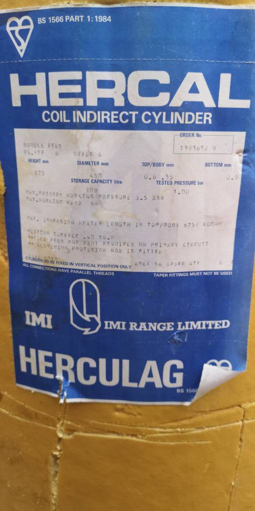 Hercal coil indirect cylinder | in Reading, Berkshire | Gumtree