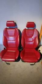 Ford Mondeo ST220 Red Leather Recaro front seats