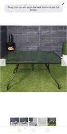 Brand new garden dining table