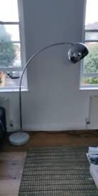 Floor lamp marble chrome