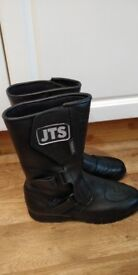 JTS Size 10 Leather motorcycle boots with kevlar brand new