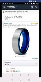Tungsten Steel ring size O 1/2