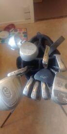 Golf clubs and zucci bag