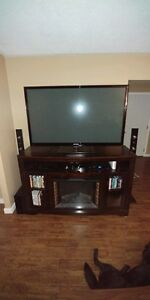 Large fireplace tv stand
