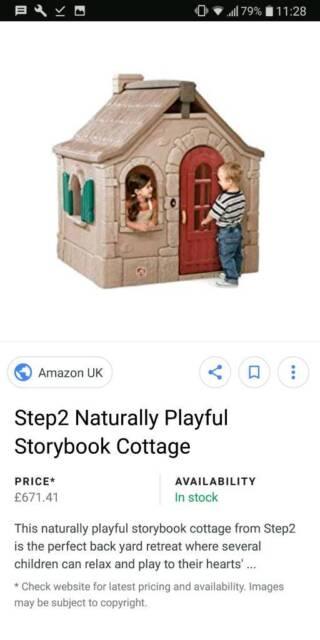Strange Play House Step 2 Storybook Cottage In Beeston Nottinghamshire Gumtree Download Free Architecture Designs Lukepmadebymaigaardcom