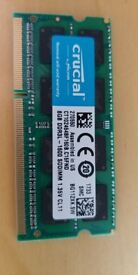 8GB Crucial DDR3 Laptop memory
