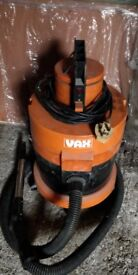 Vax 2000 hoover wet and dry orange used