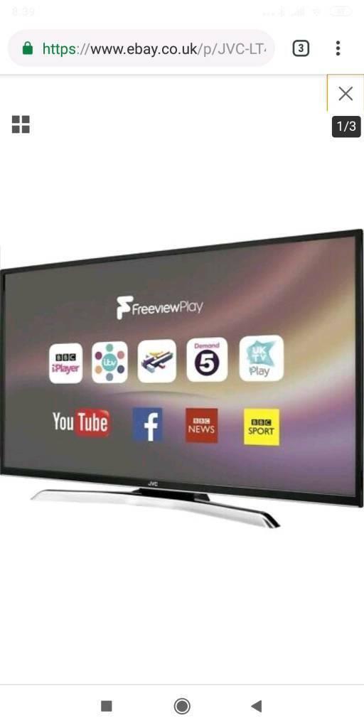 Jvc 43 inch 4k smart tv   in Sowerby Bridge, West Yorkshire   Gumtree