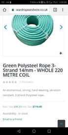 Rope 14mm and 16mm coils 220 meter coils
