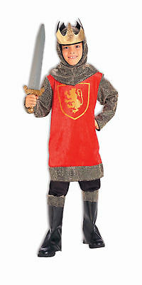Kids Crusader King Costume Knight Fairy Tale Royalty Renaissance Large 12-14