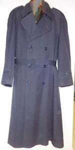 48 50 HOLT RENFREW MENS XL SPRING TRENCH COAT LONG RAINCOAT / TORONTO CANADA TALL - FREE SCARF