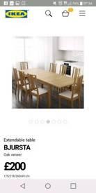 Large Ikea Bjursta Table