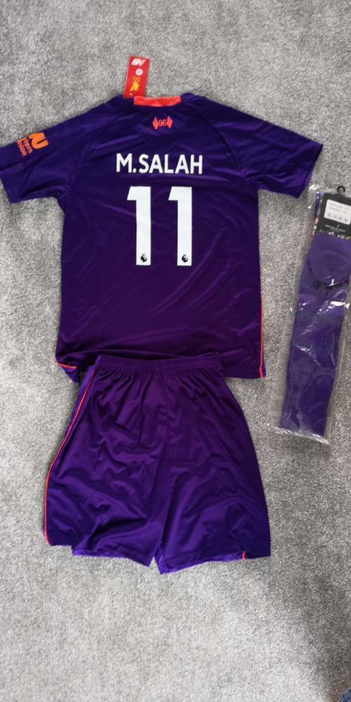 buy online 5e9d4 0f54f Mo Salah Liverpool away kit - size 26, age 9-10 | in Poole, Dorset | Gumtree