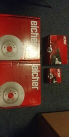 BRAND NEW Eicher Premium Disc Brakes (set of 2) and Front and Rear Pads