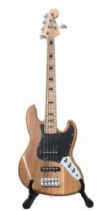 Bass Guitar 5 strings Jazz bass Natural full size