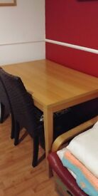 Beech effect Wooden Dining Table