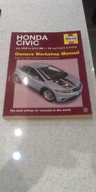Haynes Manual Honda Civic Jan 2006 to 2012