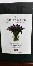 Dartington crystal tulip vase NEW