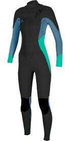 brand new in packaging 2018 O'NEILL LADIES O'RIGINAL 4/3MM CHEST ZIP WETSUIT size 12 tall