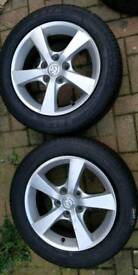 2 x Genuine 5 spoke Mazda Alloys (with tyres)